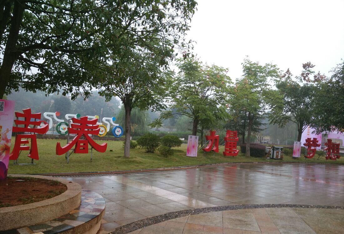 湖南省青年艺术文化节铁皮字制作
